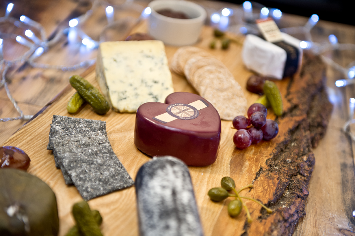 Christmas cheese selection platter