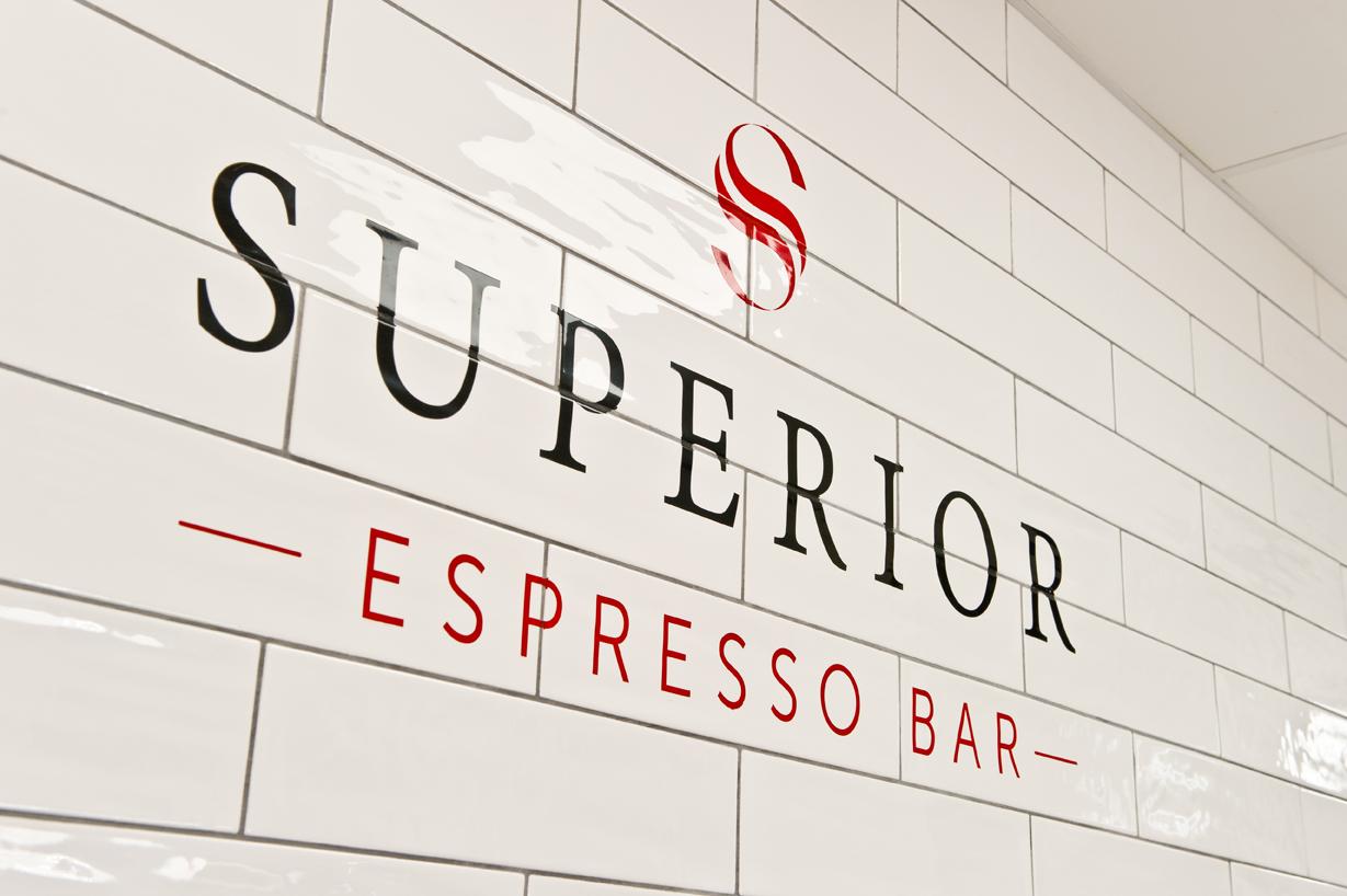 Superior espresso bar signage