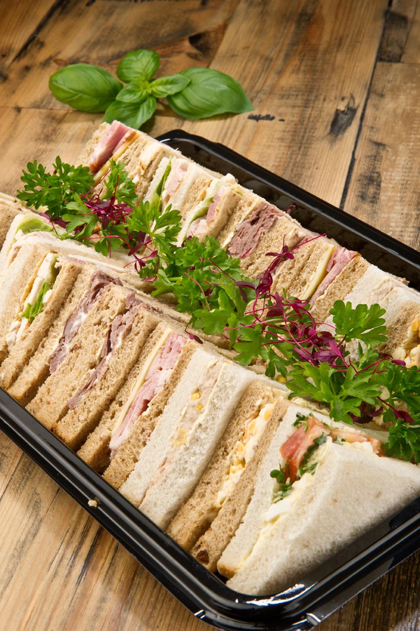 Funeral catering sandwich platter