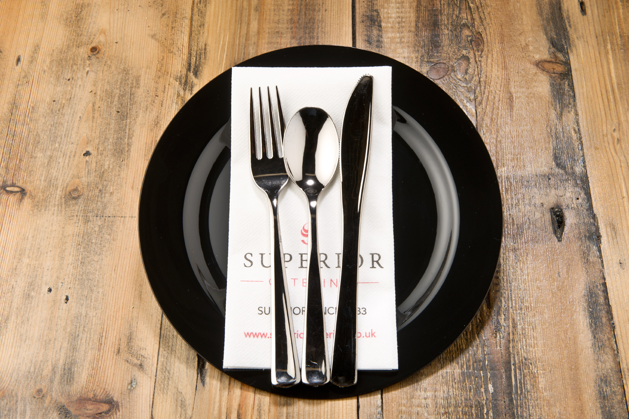 Funeral plate and cutlery