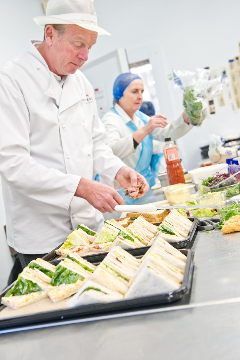 sandwich preparation for event catering