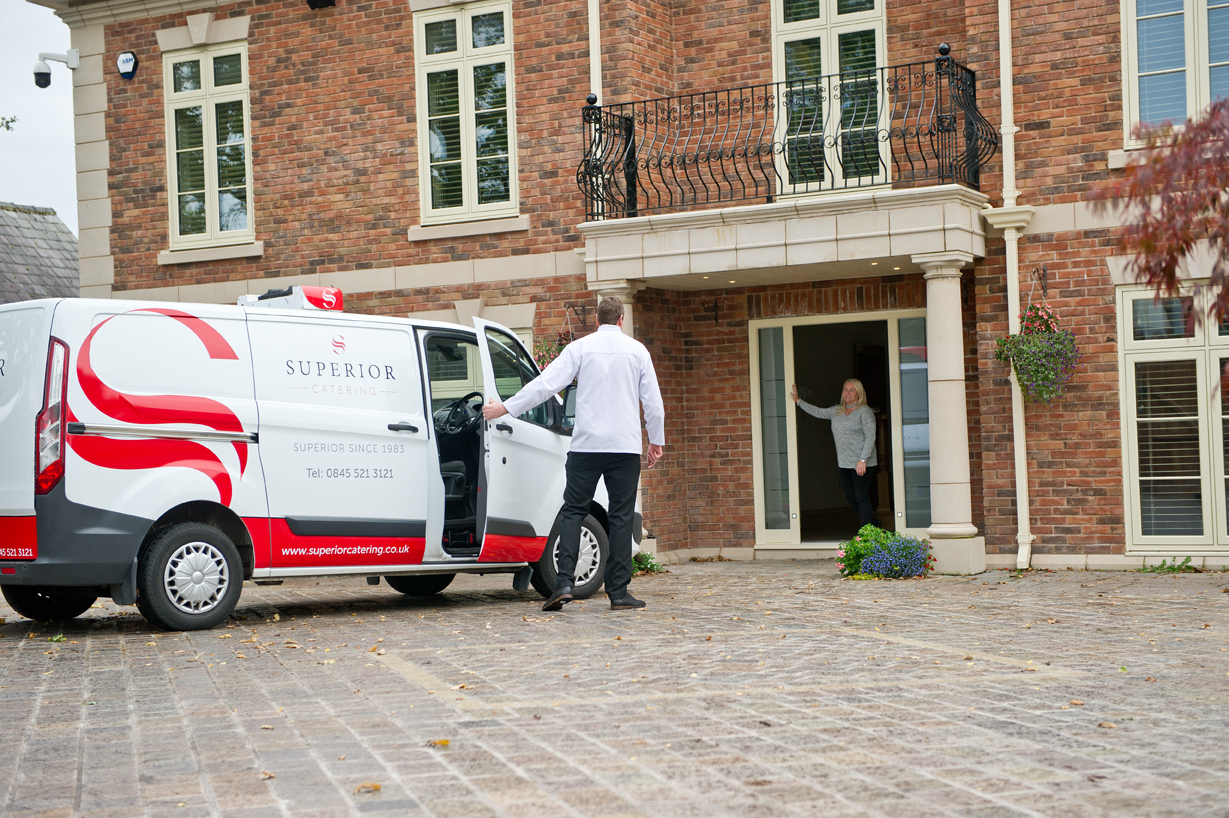Superior catering driver delivering in Liverpool