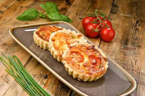 Quiches presented for corporate event