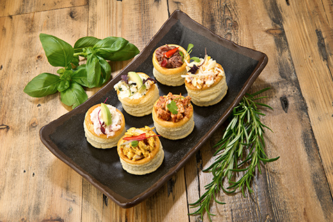 Canapes prepared for corporate catering
