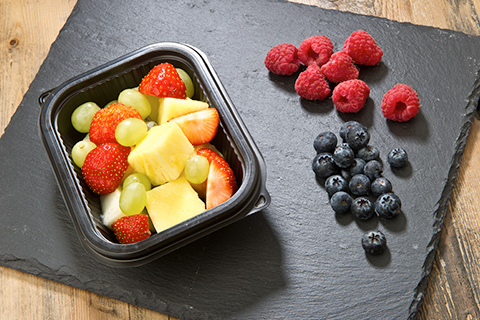 Fruit basket with blueberries