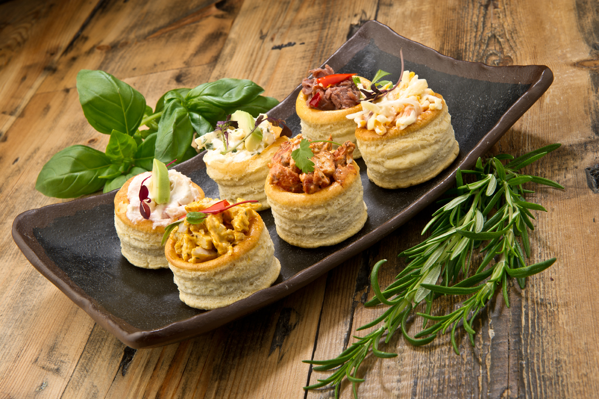 Canapes beautifully presented for catering menu