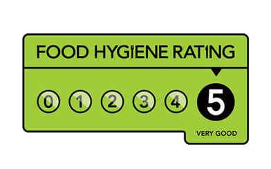 Superior Catering are awarded a five star hygiene rating